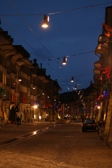 Streets of Bern at night