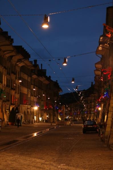 Streets of Bern at night